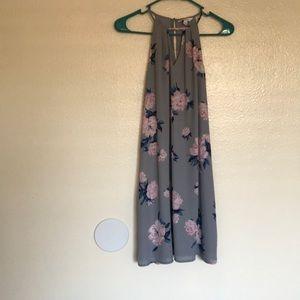 Pale Purple Floral Dress
